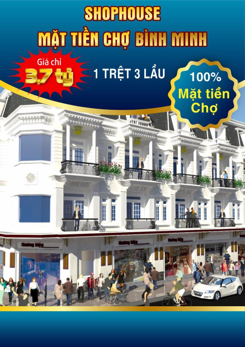 Nhà Phố Thương Mại Mặt Tiền Chợ Bình Minh - Vĩnh Long